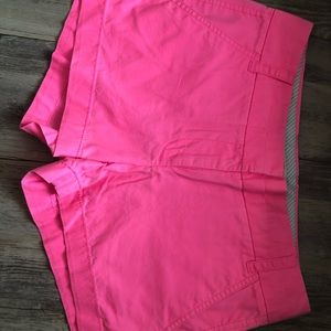 J Crew Chino shorts in Hot Pink size 0